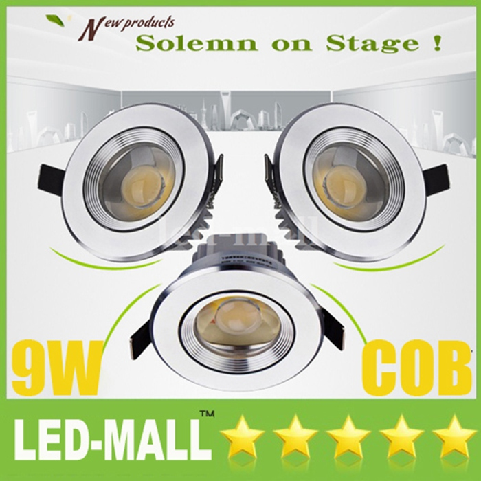 Convex-3.5 inch COB 9W 900LM LED Downlights Tiltable Fixture Cabinet Recessed Ceiling Down Lights Warranty 3 years+CE ROHS SAA