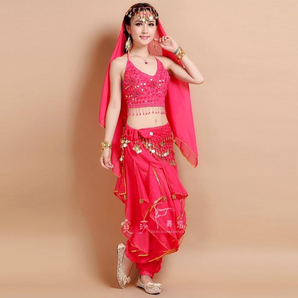 2017 nya 6 färger magdansdräkt Bollywood kostym indisk klänning magdansklänning kvinnors mage dans kostym uppsättningar