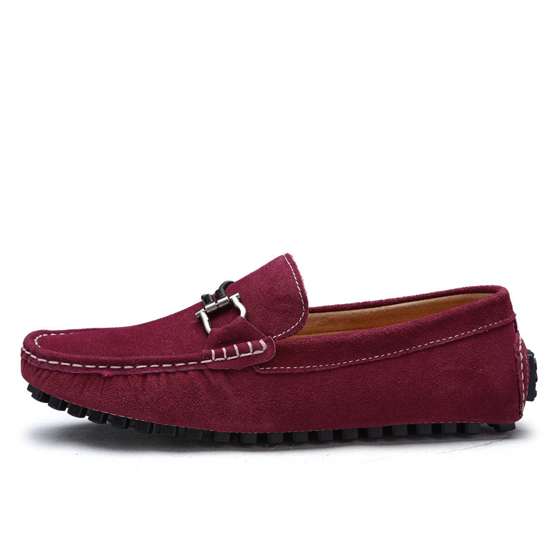 a369405321d51 Aliexpress.com : Buy 2016 New Genuine Leather men flat shoes Brand  Moccasins men loafers Peas Shoes Fashion Casual shoes Size 38 44 hot sell  from Reliable ...