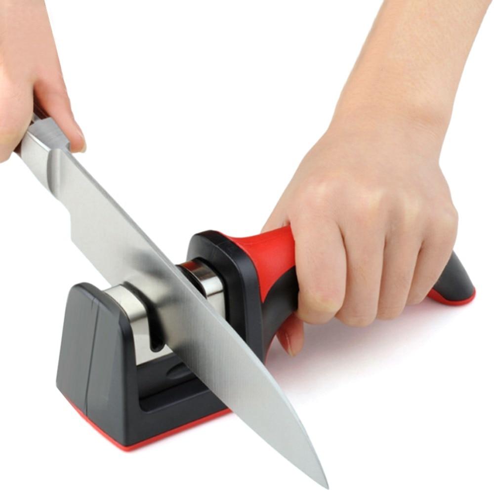 Professionelle Messer Spitzer Diamant Wolfram Stahl Hartmetall Keramik Messer Schärfen Küche Werkzeuge Zufällige Farbe
