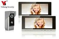 YobangSecurity 10 Pollice LCD Video Campanello Della Porta Telefono Iscrizione Intercom Monitor Della Macchina Fotografica Kit Sistema di Sicurezza con 1 Camera 1 Monitor