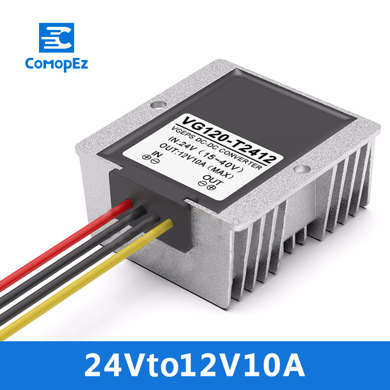 24V to 12V 10A DC Step-down Power Converter 15-40V Variable 12V 120W Car Power Supply Transformer24V to 12V 10A DC Step-down Power Converter 15-40V Variable 12V 120W Car Power Supply Transformer