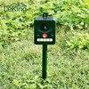 Environmental Friendly Solar LED Sonic Animal Repeller Bird Cat Dog Control Device For Garden Lawn Farms