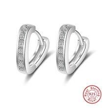 cc6eeb180343 Pendientes lindos del corazón del amor de 2018 V Infinity para las mujeres  925 Plata de Ley Brinco CZ Diamante de imitación pend.