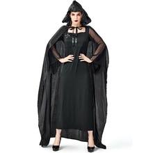 Umorden Womens Black Horror Cross Witch Sorceress Dress Costume Halloween Easter Mardi Gras Fancy Party