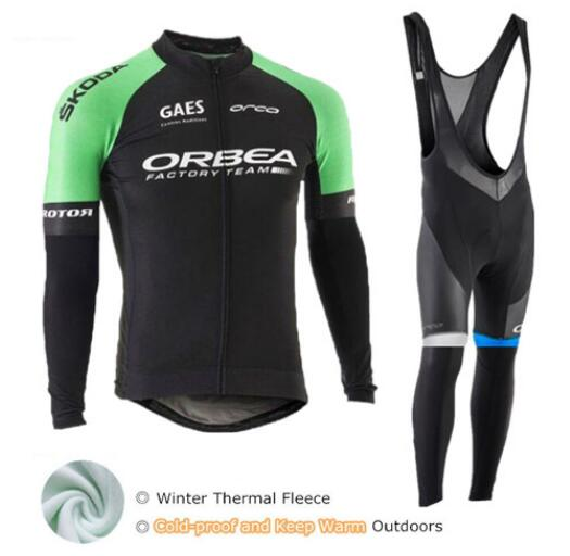 Orbea 2018 Long Sleeve Winter Cycling Set Mtb Jersey Bike Wear Clothes Maillot Ropa Ciclismo Thermal Fleece Cycling Clothing Men xintown black red ropa ciclismo maillot trouser mtb bike jersey bib pant set men cycling clothing suit riding long sleeve jacket