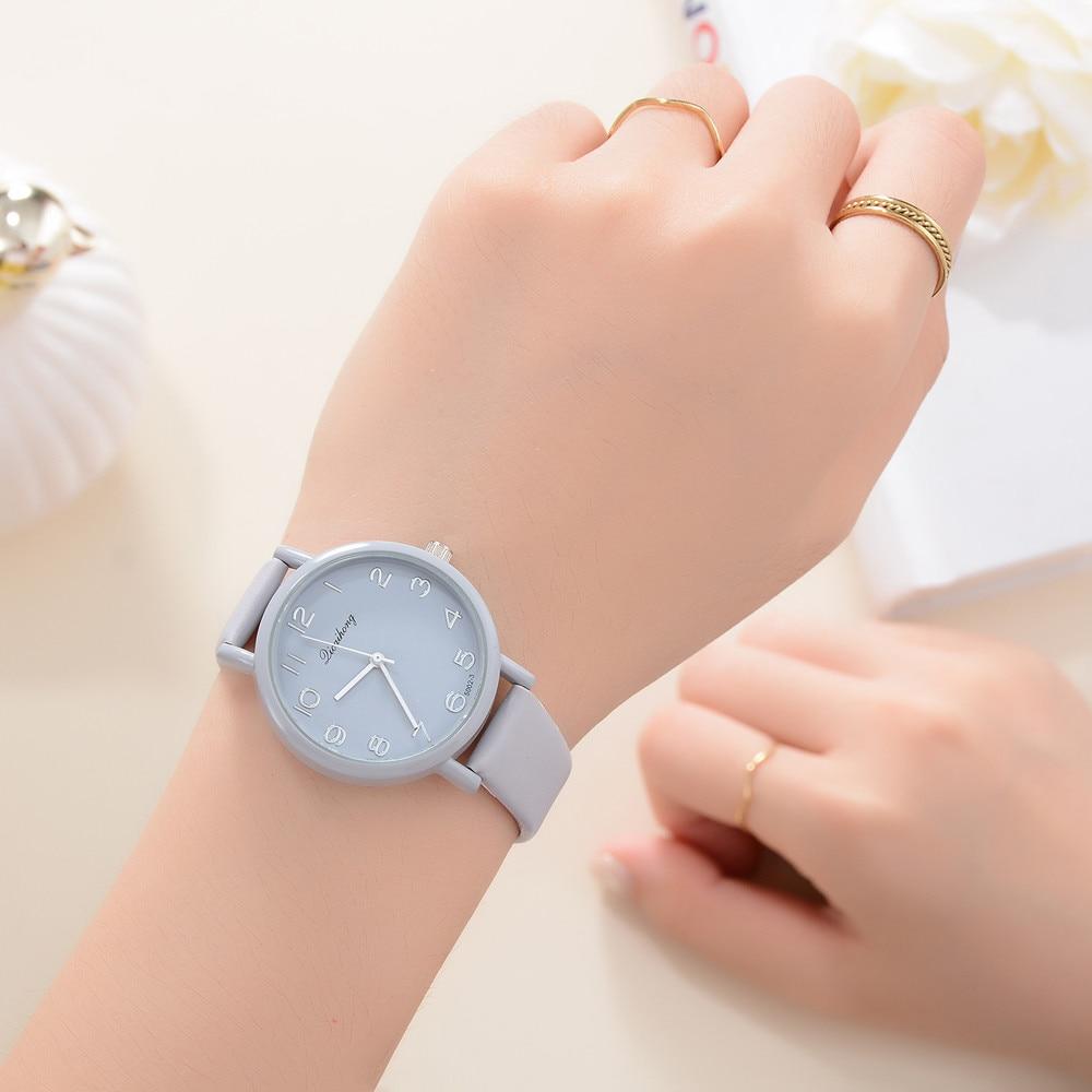 Simple Jelly Multicolor Leather Casual Sport Quartz Watches Men Women Pure Hand Clock Simple Minimalist Wrist Watches &Ff