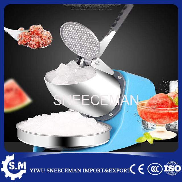 high efficiency 85kg/h commercial stainless steel electric bar snow cone ice crusher automatic ice shaver making machine ice crusher summer sweetmeats sweet ice food making machine manual fruit ice shaver machine zf