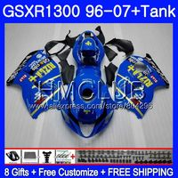 RIZLA голубой обтекатель для SUZUKI Hayabusa GSXR 1300 GSXR1300 96 02 03 04 05 06 07 26HM. 30 GSX R1300 2002 2003 2004 2005 2006 2007