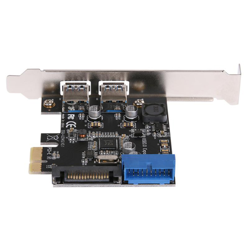 HOT-2 Port Usb 3.0 <font><b>Pci</b></font>-E Expansion Card External Usb3.0 Pcie Card <font><b>Adapter</b></font> With 2 Power Module Nec Chip For Desktop Pc Computer image