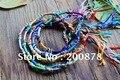 BB-346  Tibetan handmade Lucky Knots amulet bracelet,colorfol silk cotton thread,50pcs lot wholesale Friendship bracelets