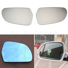 все цены на 2Pcs L+R Car Heated Door Wing Mirror Glass Rearview Side Mirrors For Audi A3 A4 S4 A5 A6 S6 A8 Allroad Q3 Skoda Octavia Superb онлайн