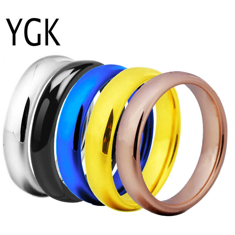 Polished Domed Tungsten Ring Comfort-fit Unisex Women/'s Wedding Band 4mm