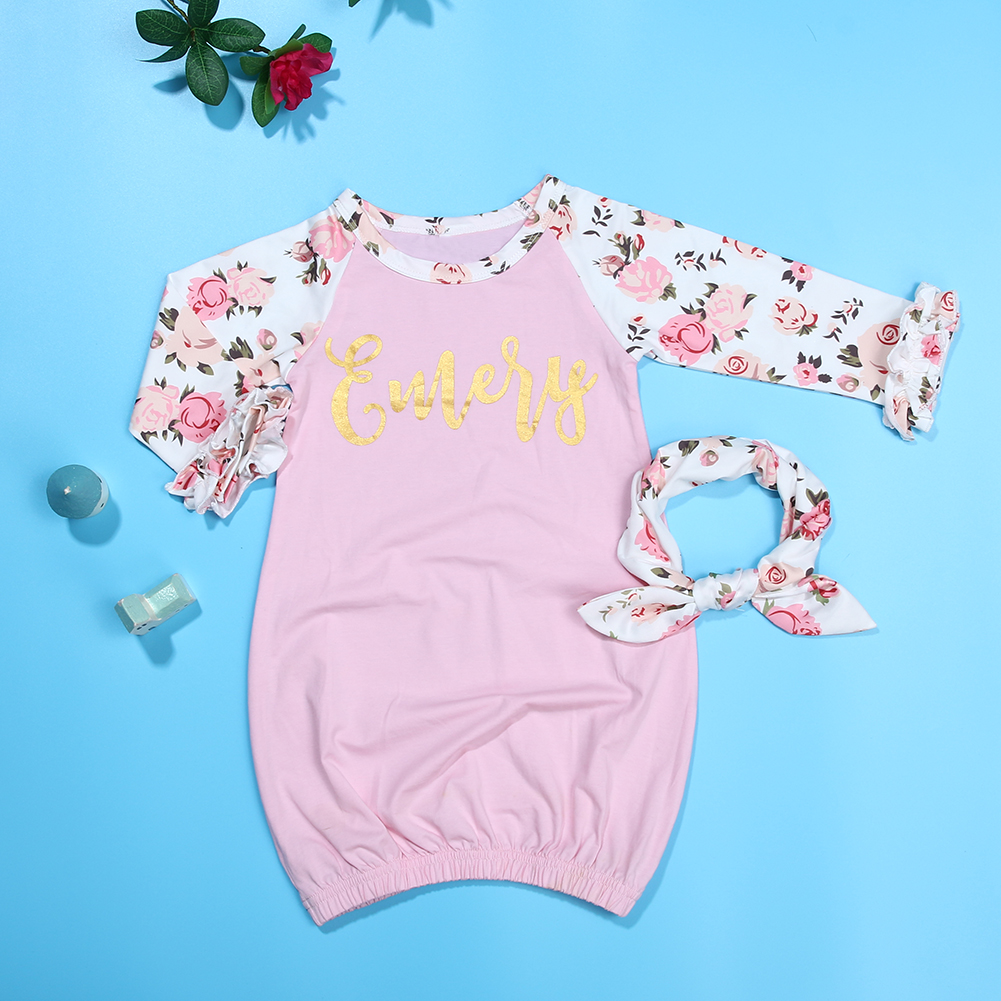 Aliexpress.com : Buy 2pcs Newborn Baby Infant Girls Pink Printing ...