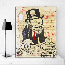 ALEC Monopolies Wall Art Canvas Poster And Print Painting Decorative Picture For Office Living Room Home Decor Framework