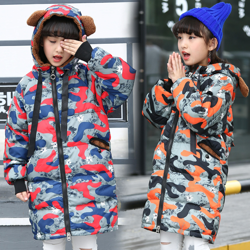 2017 Brand New Children Cold Winter Down Girls Thickening Warm Down Jackets Long Hooded Outerwear Coats Kids Duck Down Jacket 14 girls down coats girl winter collar hooded outerwear coat children down jackets childrens thickening jacket cold winter 3 13y