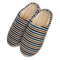 2017 Slippers Men Indoor Pantufas Winter Cotton Striped Slipper Home Shoes Soft Floor Household male Plush Chinelos Wholesale