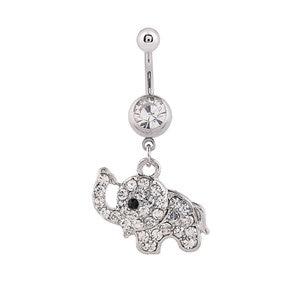 1 шт. Полностью Ювелирное кольцо на кнопках для живота с изображением слона, сексуальное кольцо для пирсинга живота, ювелирные изделия