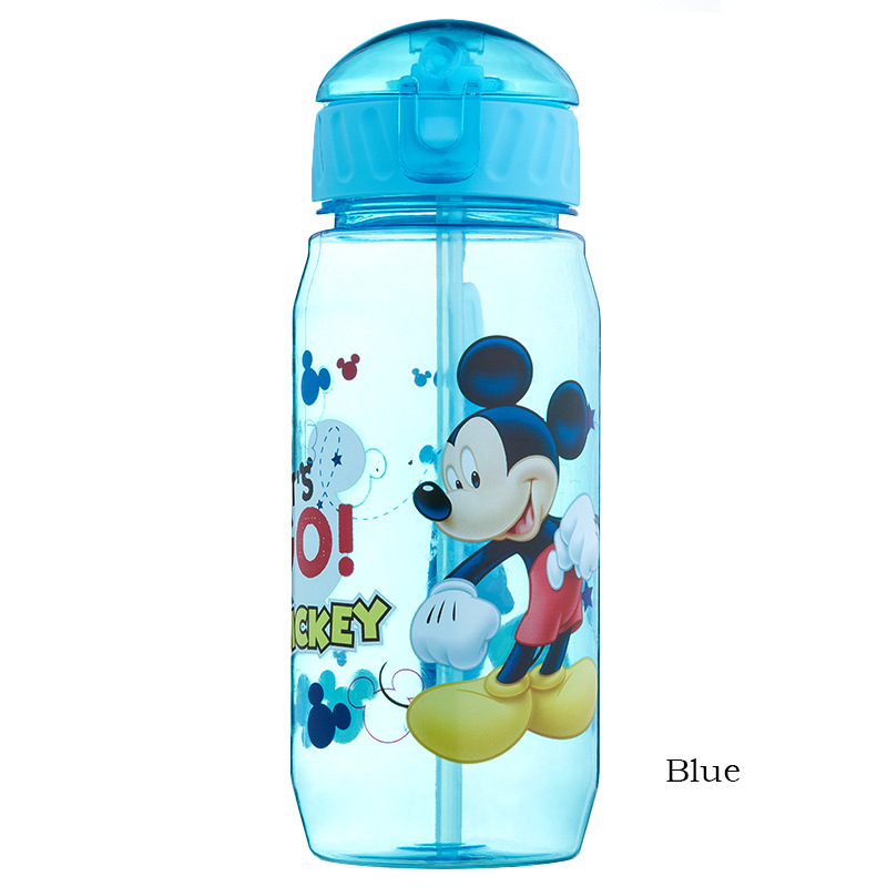 450ml 5 Color Baby Feeding Cup with Straw Children Learn Feeding Drinking Bottle with Handle Kids Water Bottles Training Cup 003