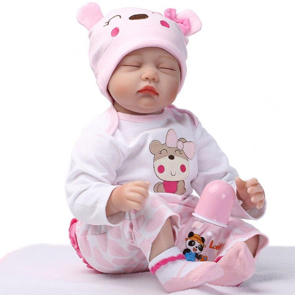 NPKCOLLECTION Bebe Reborn Dolls de Silicone Girl Body 55cm Sleeping - Muñecas y accesorios - foto 4