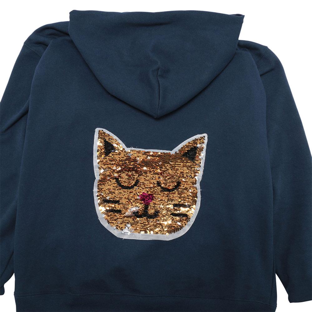 cat reversible change color sequins sew patches clothes diy applique bag coat RA