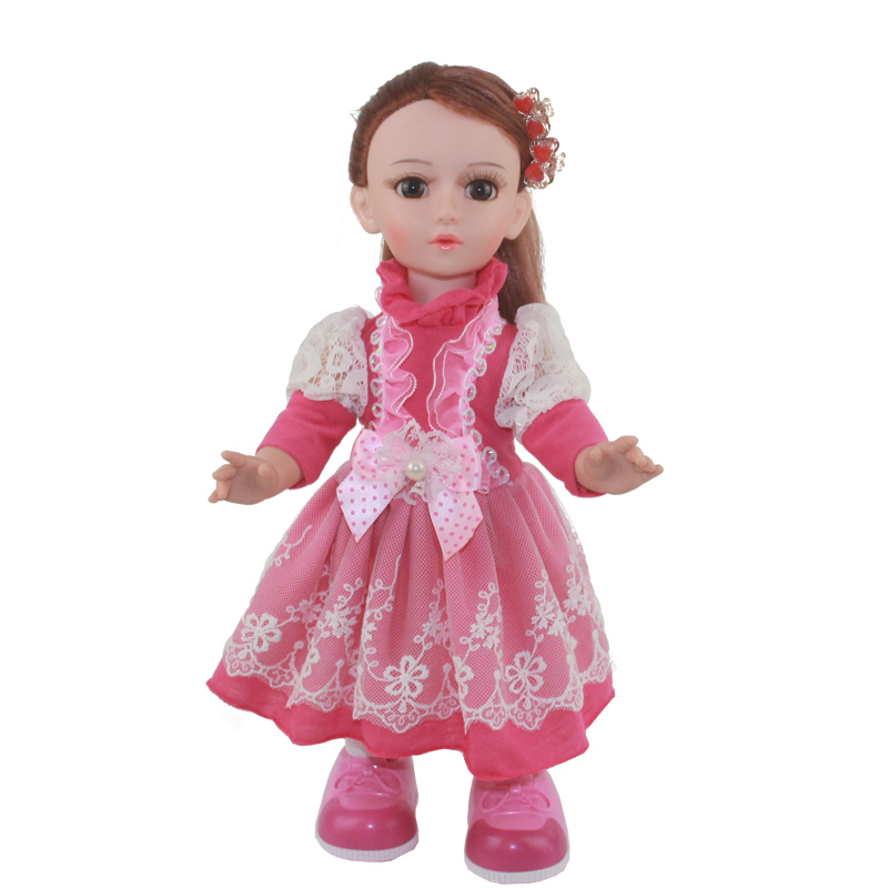Princess Anna 16'' 42cm interactive smart doll talking dancing Russian speaking walking doll girl gift