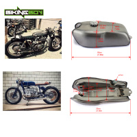 9 L 2.4Gallon Universal Full Set Cafe Racer Gas Fuel Tank Custom for Honda/Kawasaki/Suzuki / YAMAHA RD 50 350 400 BMW R 100 R