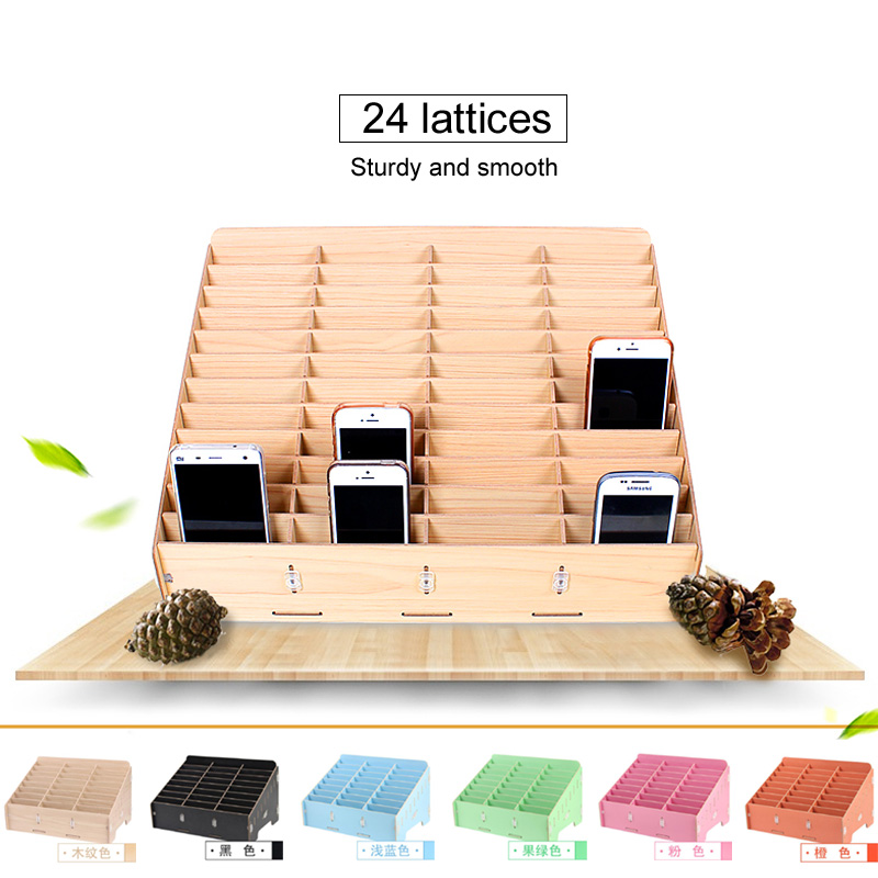 Best Quality Mobile Receiving Box LCD Storage Display Frame Store Classroom Tool Desktop Cleaning Wooden Box Storage Bin