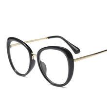 3f0f4f4d3b Vazrobe mujeres gafas lente transparente grueso Oval gafas marcos mujer  negro blanco Vintage Nerd puntos moda prescripción grado