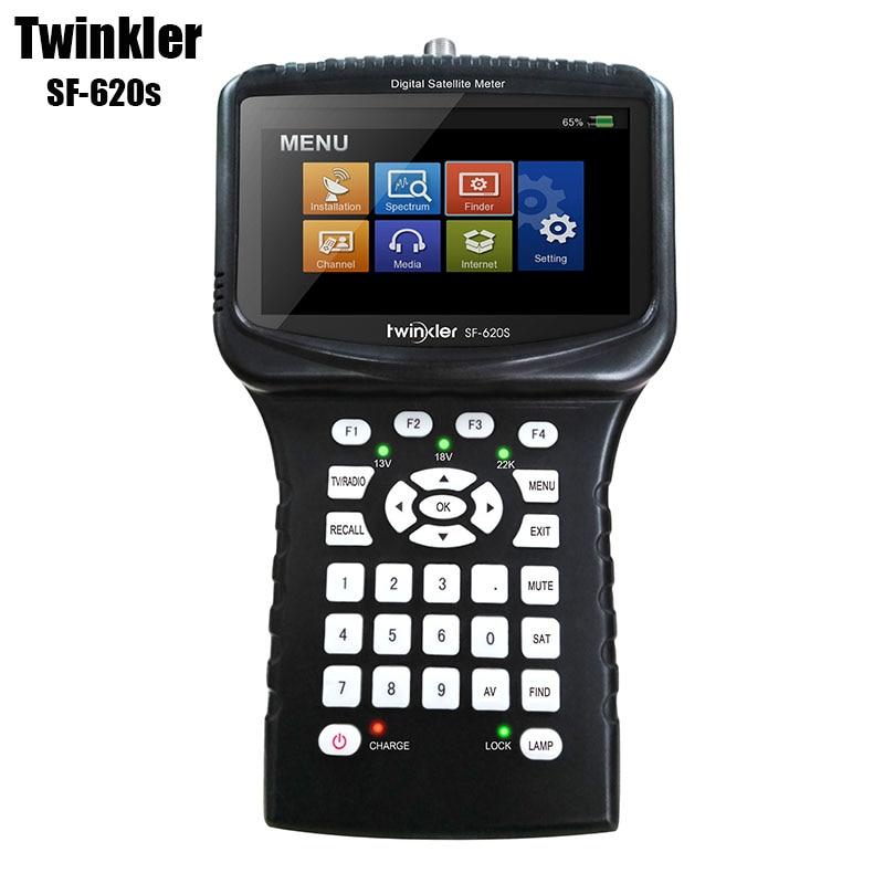 HD Satellite Finder Twinkler SF-620S 4.3 inch LCD Screen with Spectrum Analyzer CCTV Camera in CVBS Handheld DVB-S2 Finder Meter