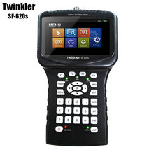 HD Satellite Finder Twinkler SF-620S 4.3 inch LCD Screen with Spectrum Analyzer CCTV Camera in CVBS Handheld DVB-S2 Finder Meter(China)