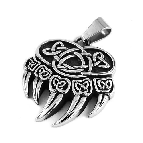 Celtic Knot Charms Claw Biker Men Pendant Stainless Steel Jewelry Norse Viking Motor Biker Pendant Wholesale SWP0407