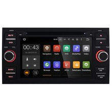 7 Inch Android 5.1.1 Black Car Multimedia Player For Ford Transit Galaxy Focus Capacitive Touch Quad Core 1024*600 Free MAP DVD