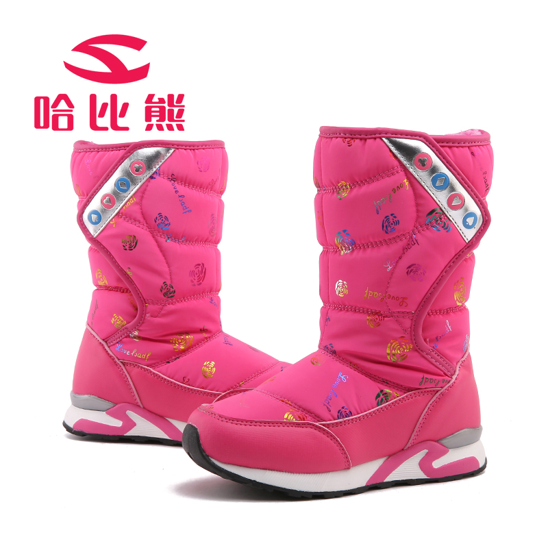Baby Brand shoes Girls 2017 autumn winter snow boots children thickened shoes girl waterproof slip resistant kids warm sneakers kids shoes girls boys pu leather lace up high children sneakers girl baby shoes sport autumn winter children shoes