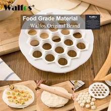 button maker badge maker button making machine new 58mm mold one set WALFOS 19Holes Ravioli dumplings Tool maker mold Plastic Samosa Cooker russian pelmeni maker Dumplings Making Mold