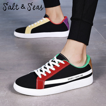 Salt Seas Men Sneakers High Quality Fashion HIgh Men Flats Casual Canvas Shoes Men Shoes Size 39-44