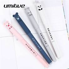Umitive 1 pcs 0.35 mm Erasable Gel Pen Blue Ink Cartoon Animal Pen For Student Gift School Office Supplies Stationery 1 pcs cute simulation unicorn animal gel pen student stationery novelty gift school material office supplies