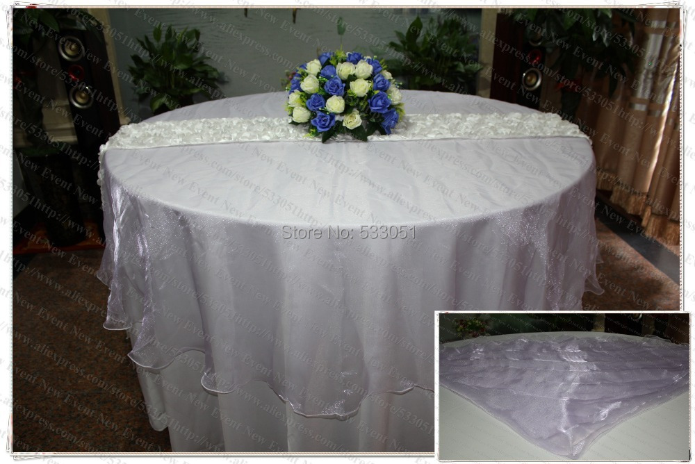 210cm Round NO.24 Pale Purple Organza Table Overlay/Table Cover/Tablecloth  For Wedding Party Home Hotel Banquet Decorations
