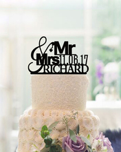 Best Price Personalized Wedding Cake Topper Mr &Mrs Cake Toppers with Name  Date Letters Cake Toppers with Heart Design Wedding Decoration