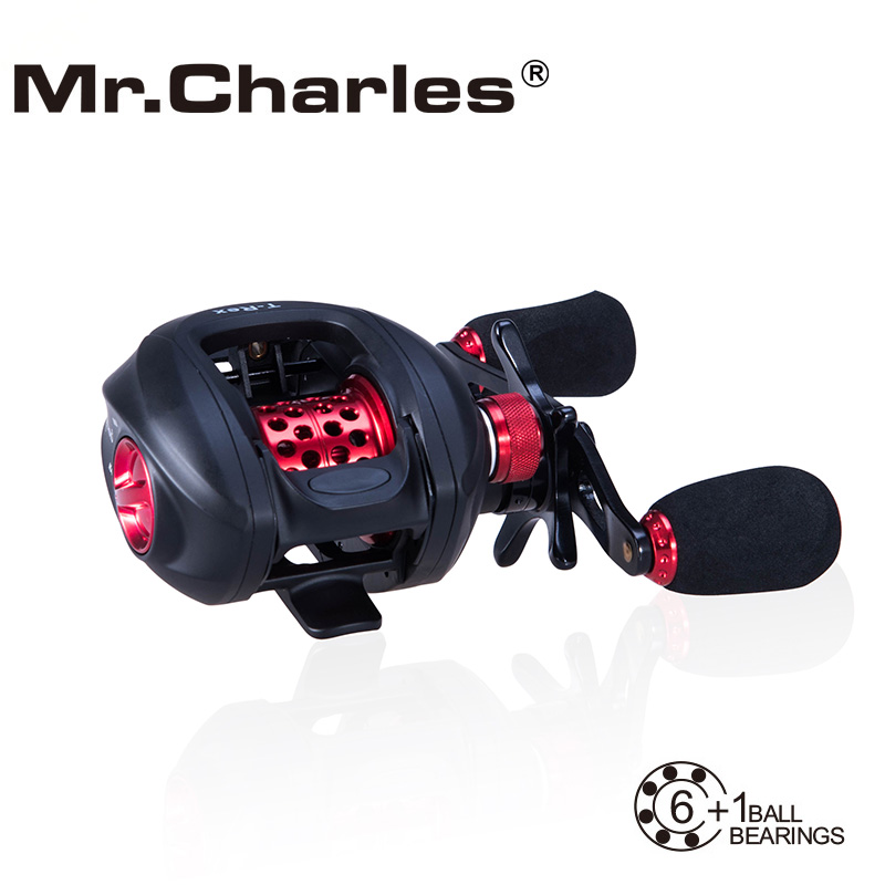 MR.Charles NBC 6BB + RB T-REX قرقره Baitcasting حلقوی چپ / راست