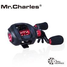 Mr. Чарльз NBC 6BB + rb T-REX Baitcasting катушка влево/правая рука приманки литья Рыболовная катушка подшипника мультипликаторы fihsing катушки