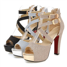 big size 34-43 spuer high shoes sexy lady popular platform shoes in summer hot sale party  shoes sandals