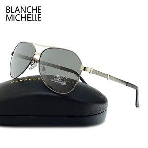 Image 3 - Di alta Qualità Pilot Occhiali Da Sole Polarizzati Uomini UV400 di Guida Occhiali Da Sole Uomo Vintage Occhiali Da Sole Uomo 2020 okulary oculos Con La Scatola Polarized Sunglasses Men