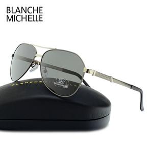 Image 3 - High Quality Pilot Polarized Sunglasses Men UV400 Driving Sun Glasses Mens Vintage Sunglass Man 2020 okulary oculos With Box