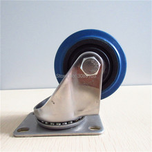 1 pcs 3 inch  polyurethane rubber swivel industrial steel casters