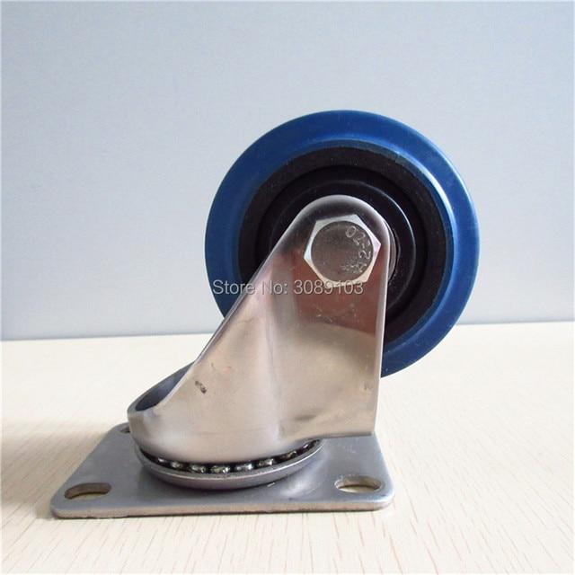 4 pcs 3 inch  polyurethane rubber swivel industrial steel casters