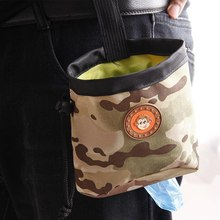 Dog Outdoor Training Pouch Waist Back Food Bag Dogs Snack Pack Portable Treat Bags Pet Oxford Camouflage