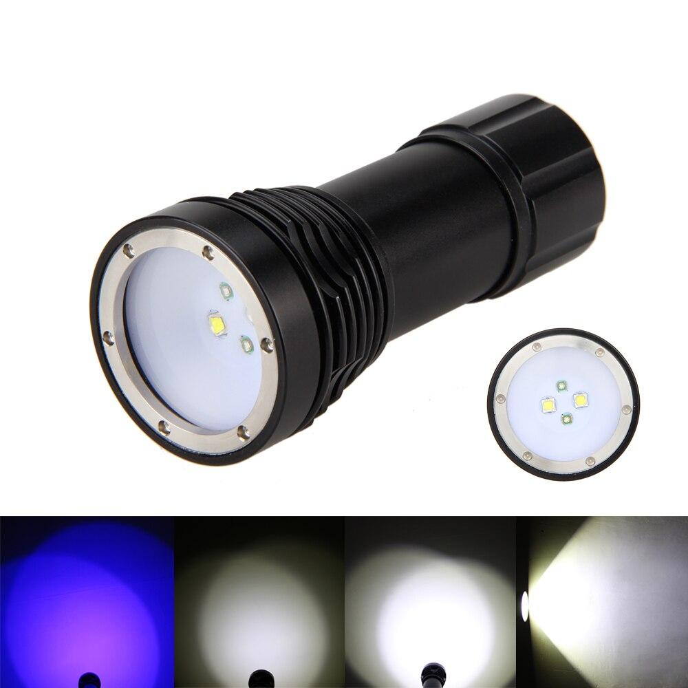 Diving 4000lm 4*XM-L2+2*Pruple LED SCUBA Photograph Video Flashlight Diver Torch Lamp nitecore mt10a 920lm cree xm l2 u2 led flashlight torch