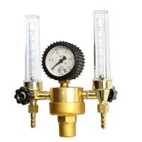 הגעה חדשה פליז Mayitr ארגון רגולטור CO2 מד זרימת Backpurge כפול מכונה ריתוך Tig Mig רתך ארגון Flowmeter עבור ריתוך