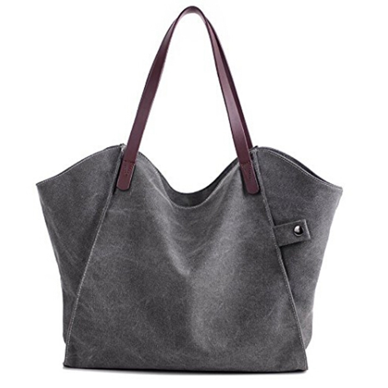 Canvas Handbag Large Hobos Bag Sell Totes Bolsas Woman Solid Shoulder Bag